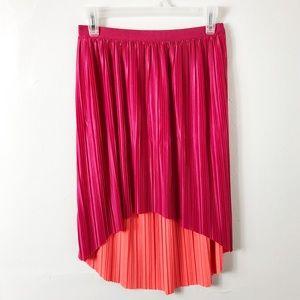 NWT Xhilaration Pink Orange Reversible Skirt M